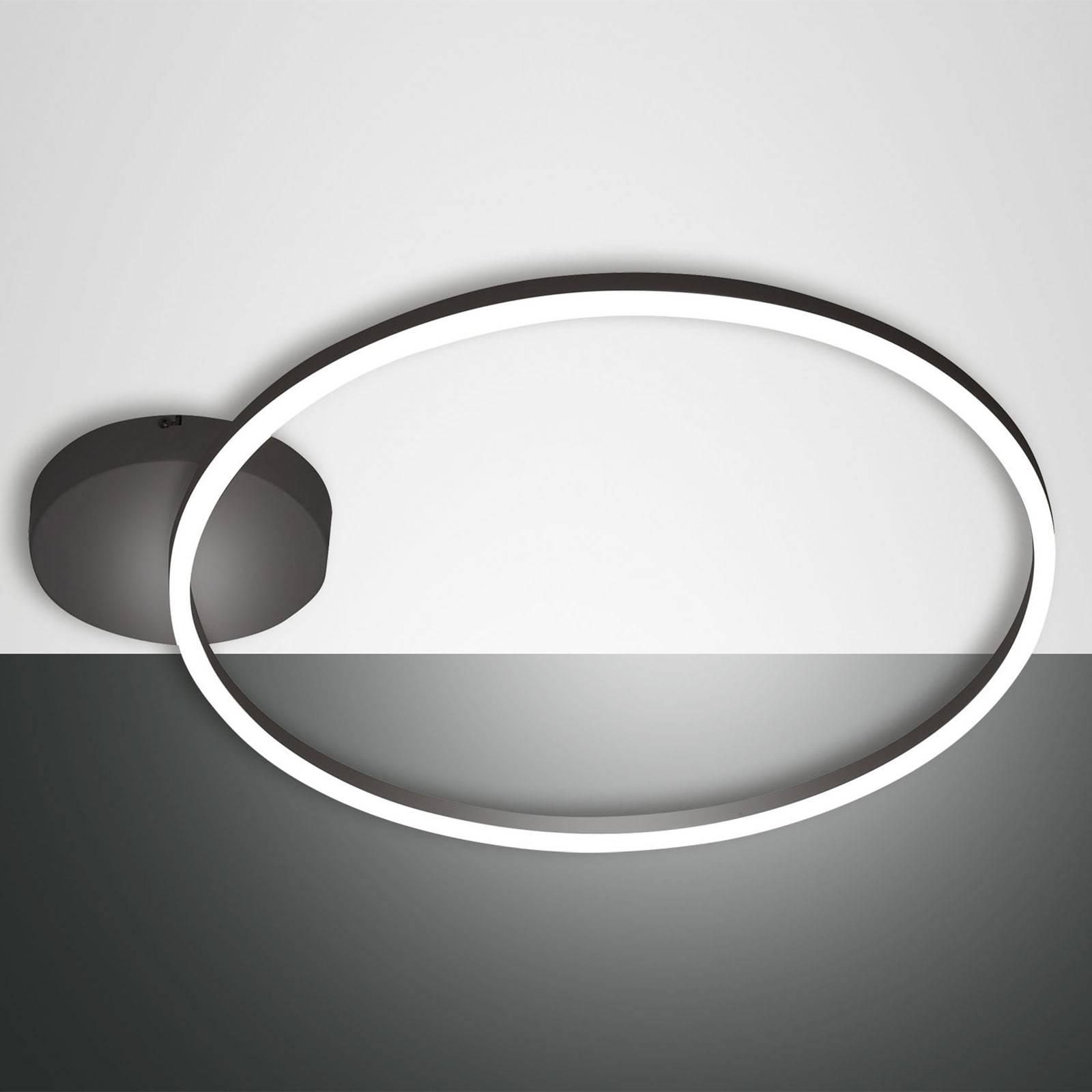 LED-kattovalaisin Giotto 1-lamppuinen, musta