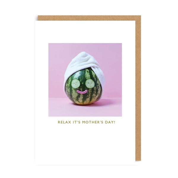 Relax It's Mother's Day (Watermelon) Greeting Card