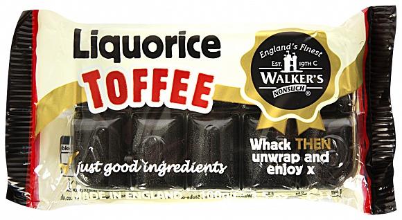 Walkers Liquorice Toffee Bar 100g