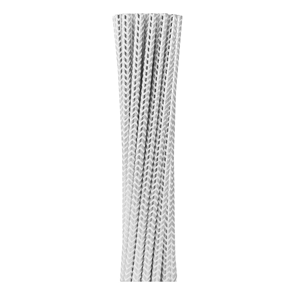 Papperssugrör Silver Chevron - 12-pack