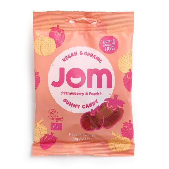 JOM Organic Candy Ekologiskt Gelégodis Strawberry & Peach, 70 g