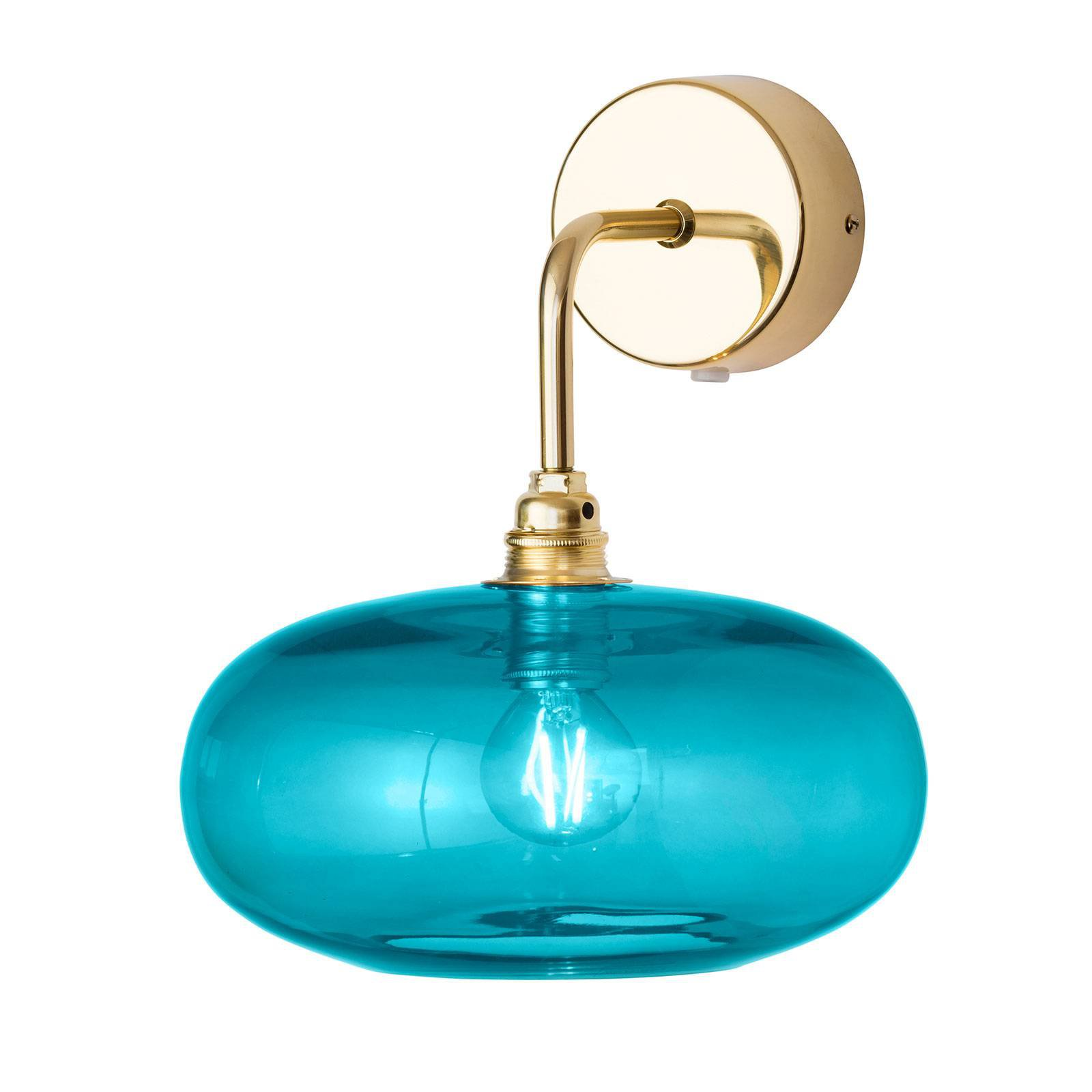 EBB & FLOW Horizon armvegglampe, gull/blå, Ø 21 cm