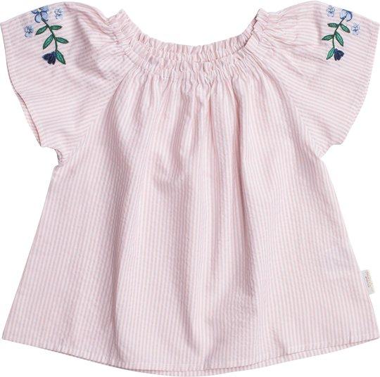 Petite Chérie Atelier Zola Bluse, Pink/White 98