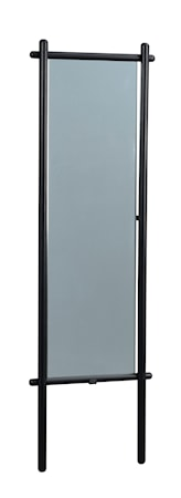 Milford Golvspegel Svart Ek 52x180 cm