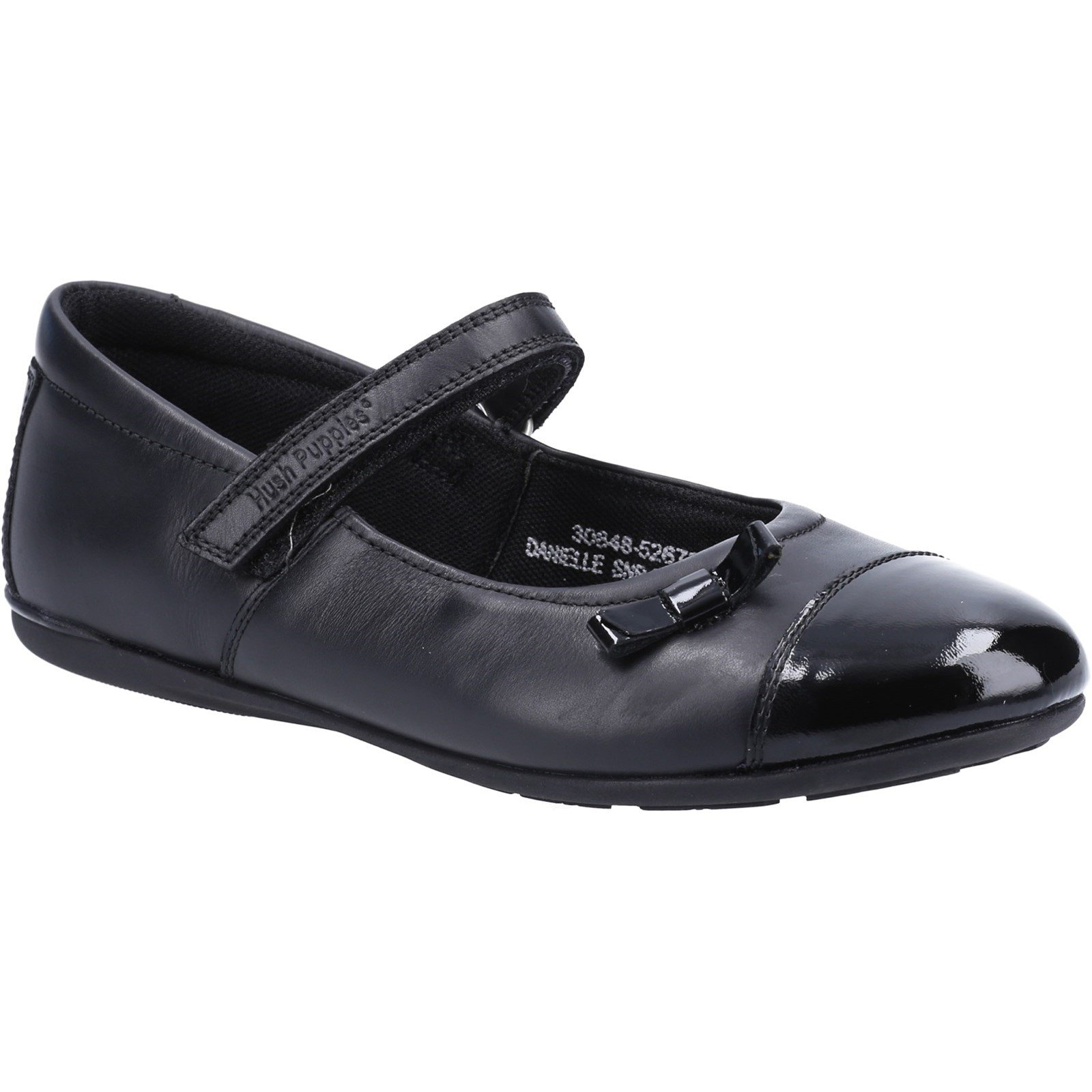 Hush Puppies Kid's Danielle Senior School Shoe Black 30848 - Black 4