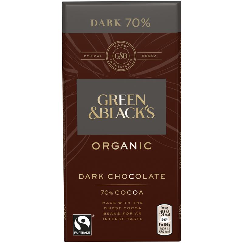 Luomu Tumma Suklaa 70% - 33% alennus