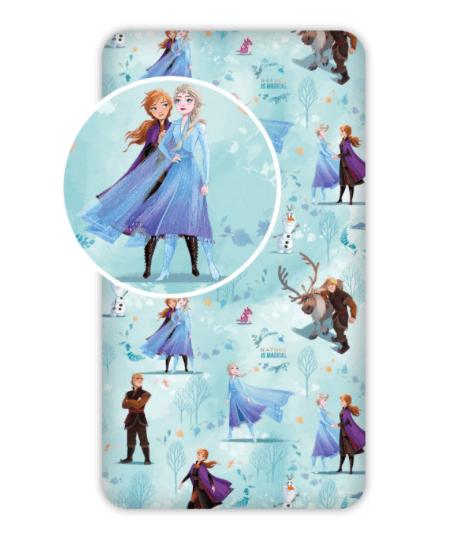 Fitted sheet - 90x200 cm - Frozen (FR005)