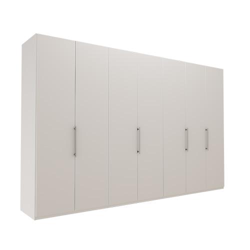 Garderobe Atlanta - Hvit 350 cm, 216 cm, Uten gesims / ramme