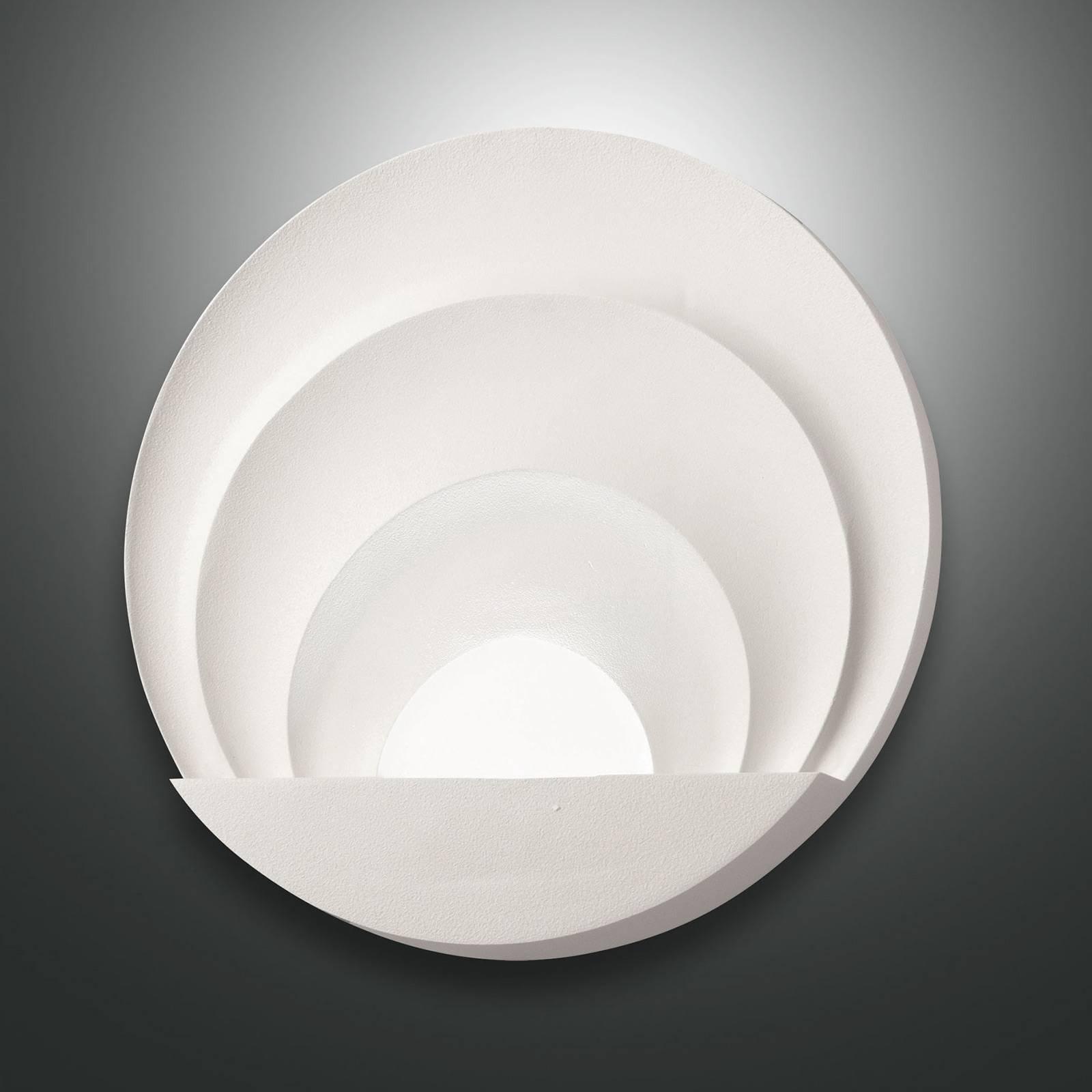 LED-vegglampe Sunrise, hvit
