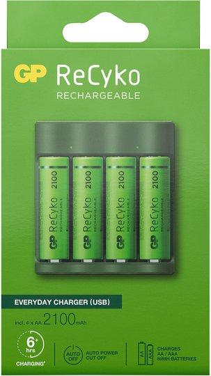 GP Batterier ReCyko B421 Everyday Batterilader USB