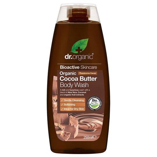 Dr. Organic Cocoa Butter Body Wash, 250 ml