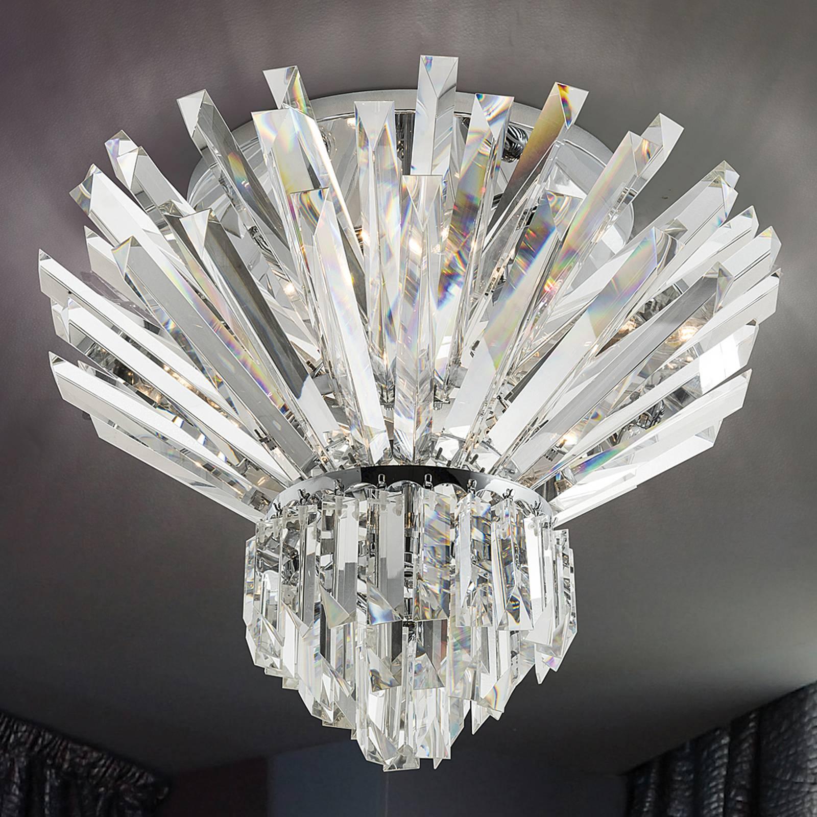 Ylellinen kristallikattovalaisin Cristalli, 60 cm
