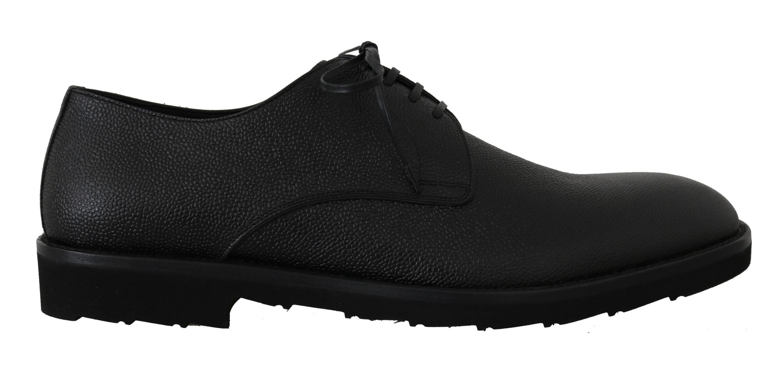 Dolce & Gabbana Men's Leather Derby Dress Formal Shoes Black MV2233 - EU39/US6
