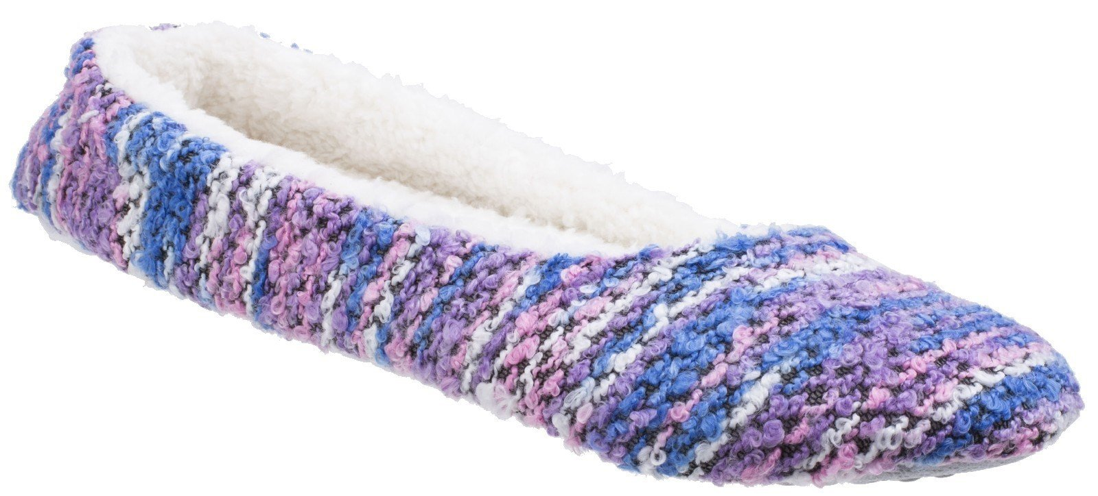 Divaz Women's Morzine Knitted Slipper Various Colours 25587 - Purple 4