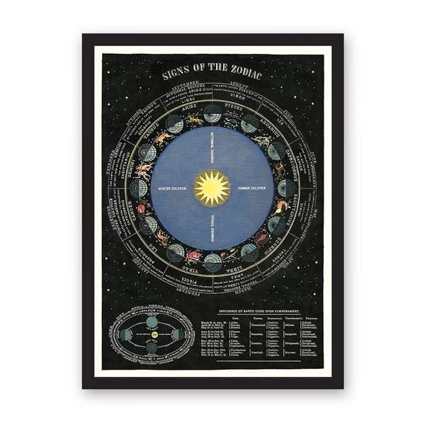 Zodiac Chart Art Print