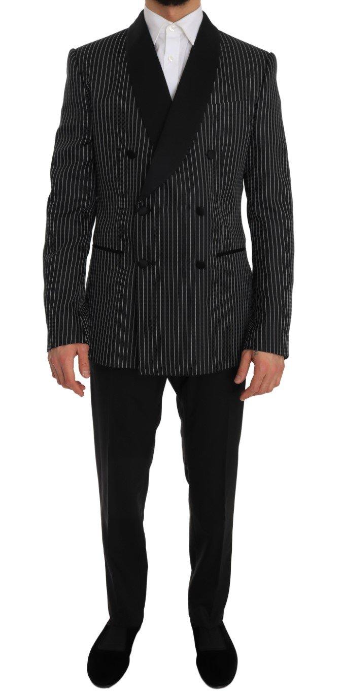 Dolce & Gabbana Men's Double Breasted Slim Fit MARTINI Suit Beige JKT1232 - IT50 | L