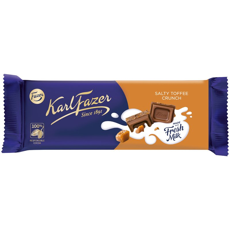 Mjölkchoklad Salty Toffee Crunch - -1% rabatt