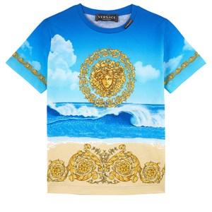 Versace Beach Print Medusa T-shirt Blå 8 år