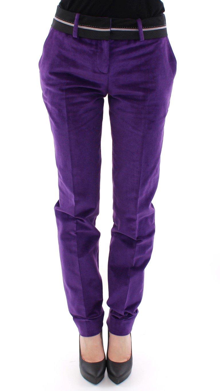 Dolce & Gabbana Women's Cotton Corduroys Jeans Purple NOC10511 - IT38|XS