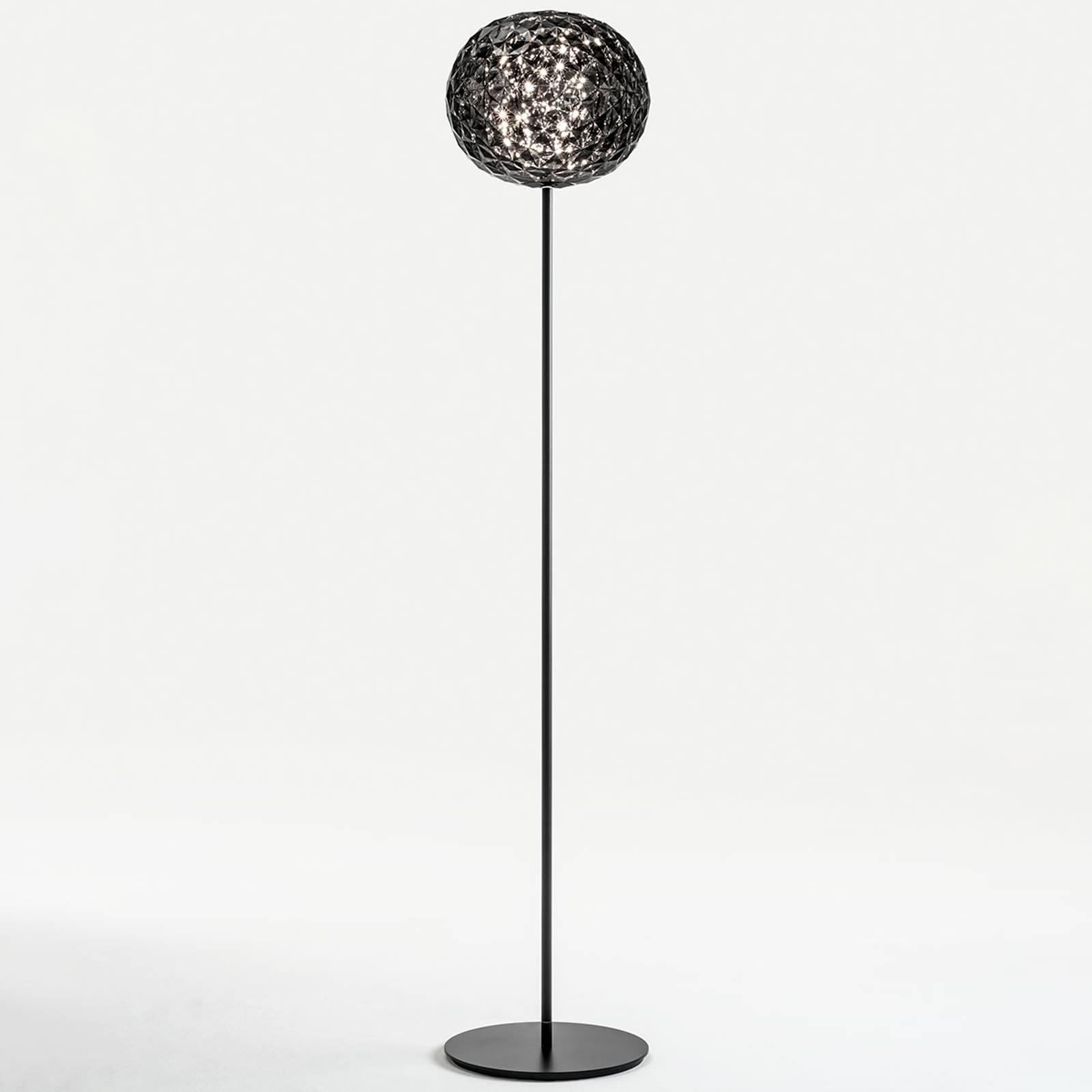 Kartell Planet-LED-lattiavalo, 160 cm, savunharmaa