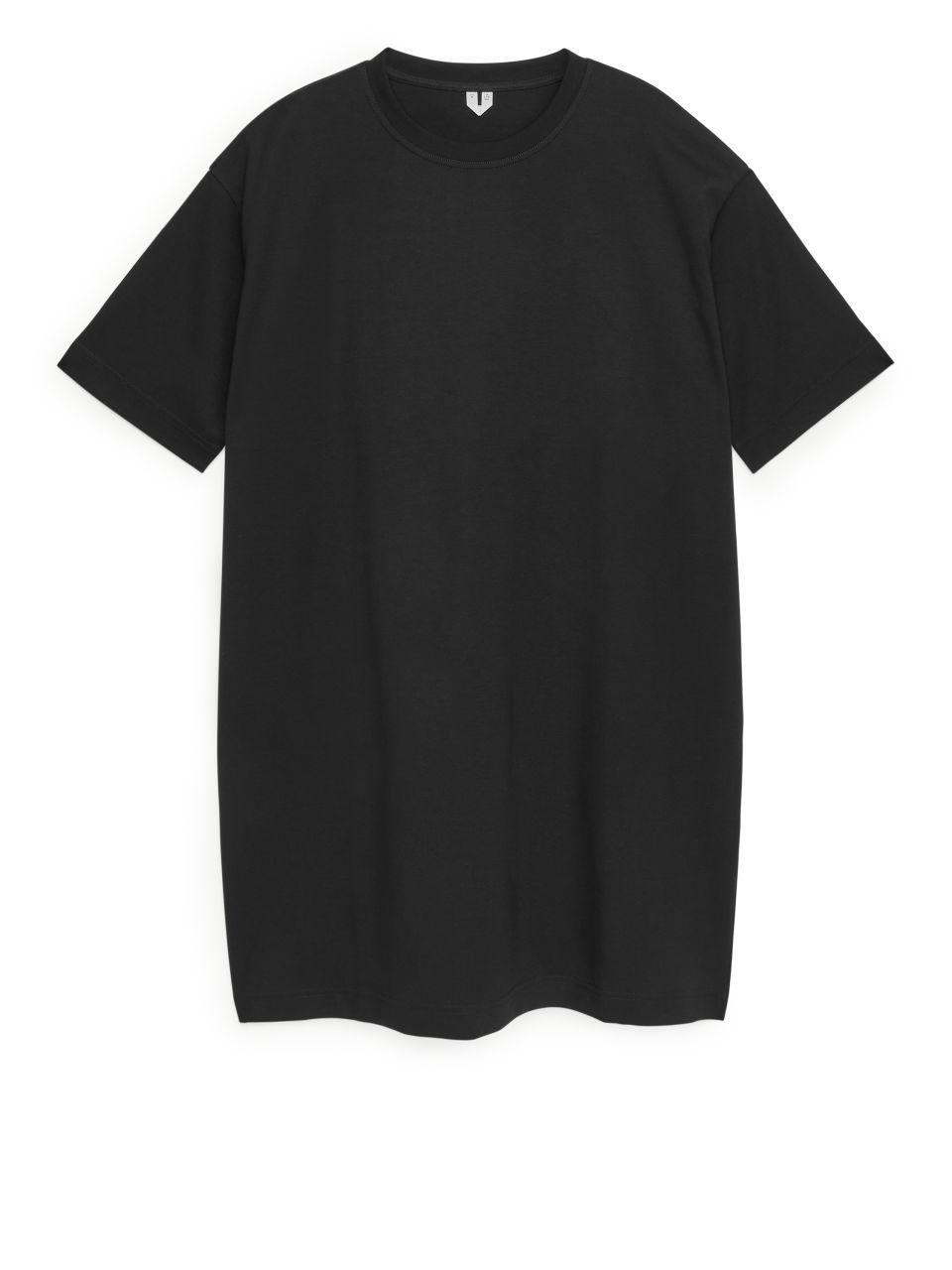 Jersey T-Shirt Dress - Black