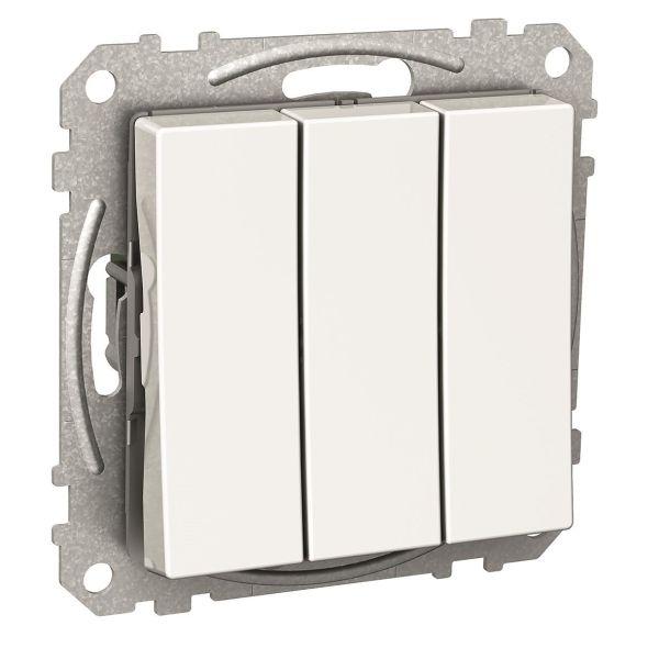 Schneider Electric Exxact Vippetrykknapp hvit 3 x 1 pol