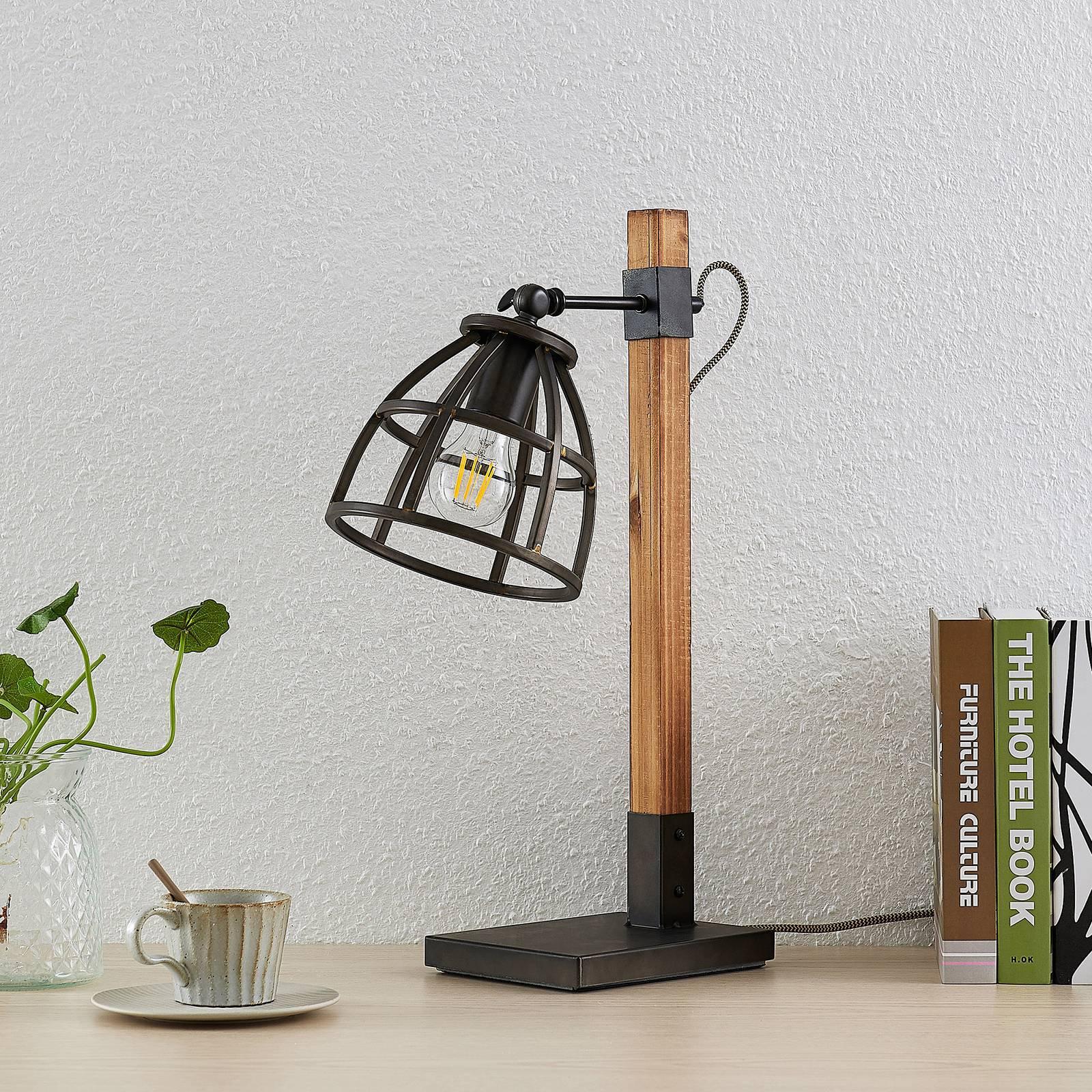 Lindby Tanina bordlampe med burskjerm