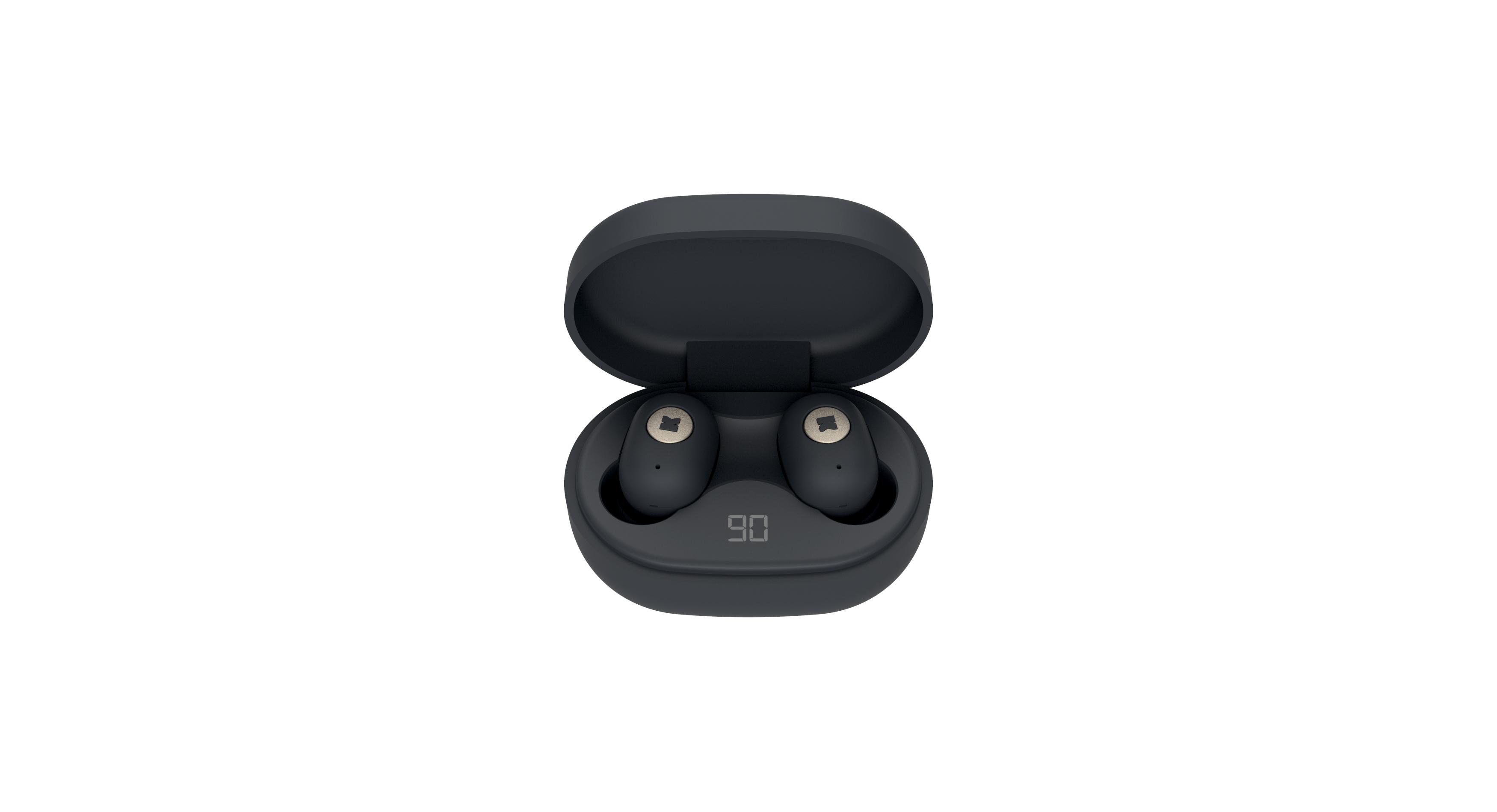 KreaFunk - aBEAN In-Ear Bluetooth Headphones - Black (KFLP02)