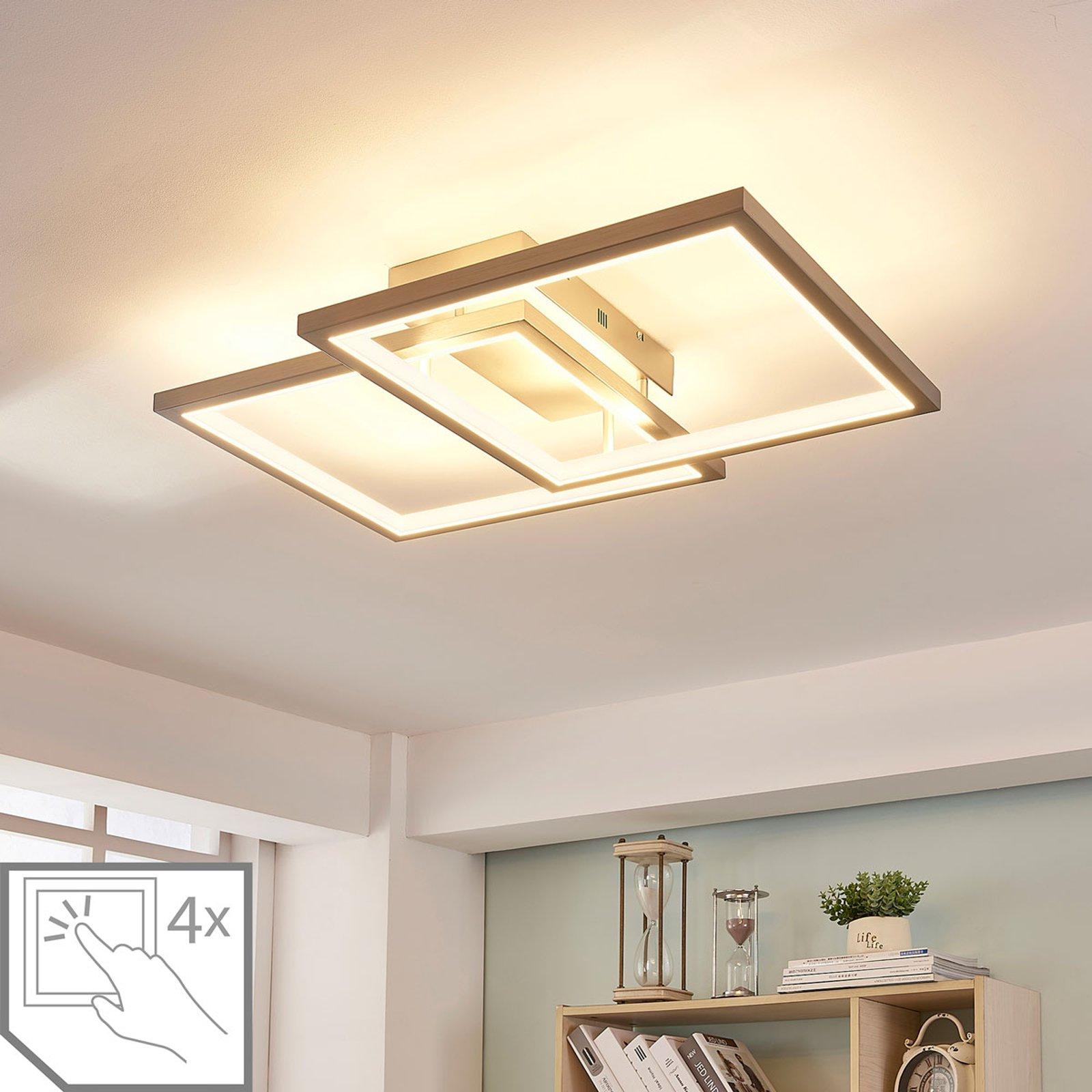LED-taklampe Heriba av to rammer, dimbar
