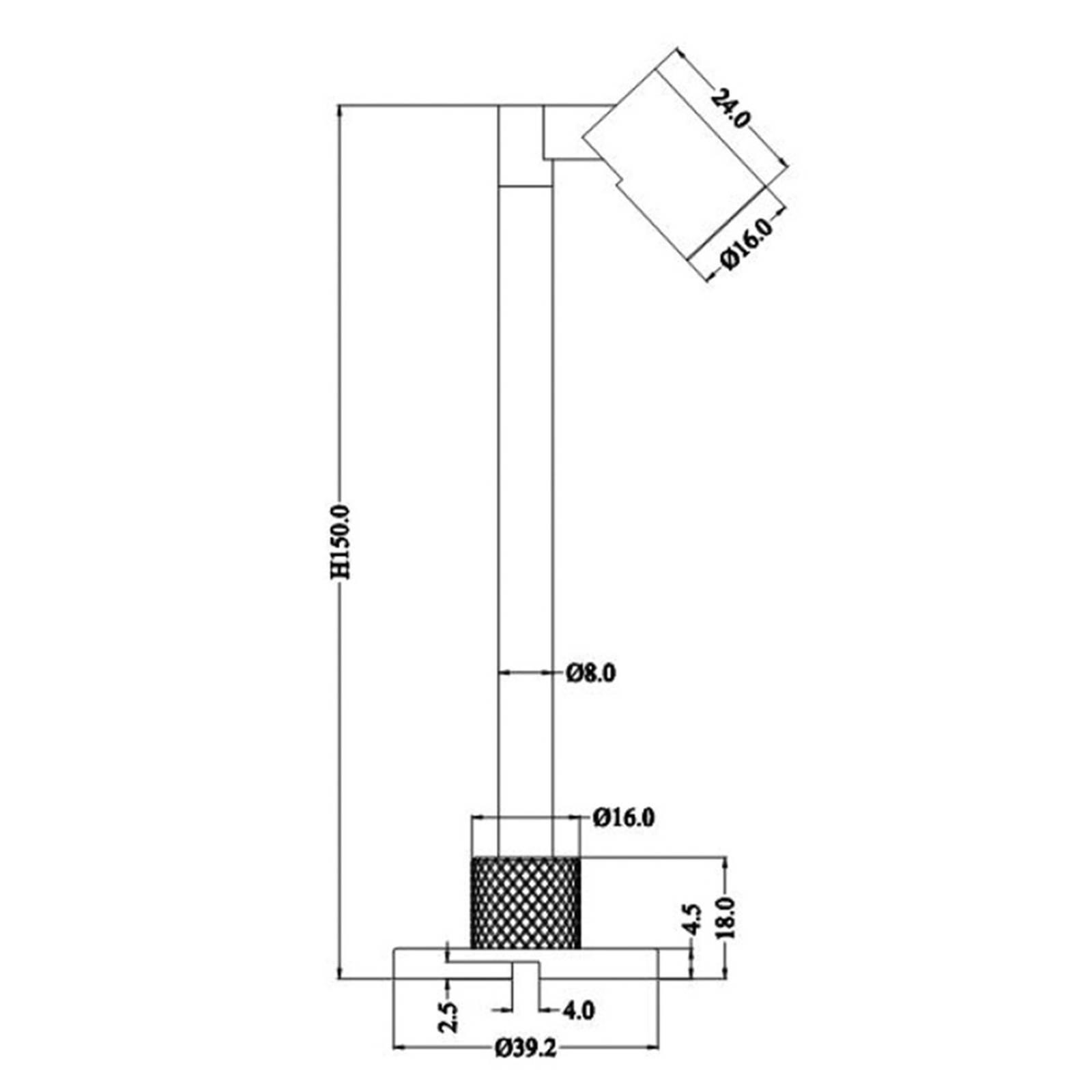 LED-display-valaisin Herculis small 4 000 K, musta