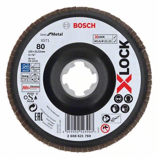 Bosch Best for Metal Lamellslipeskive med X-LOCK X571, vinklet 125 mm, G 80