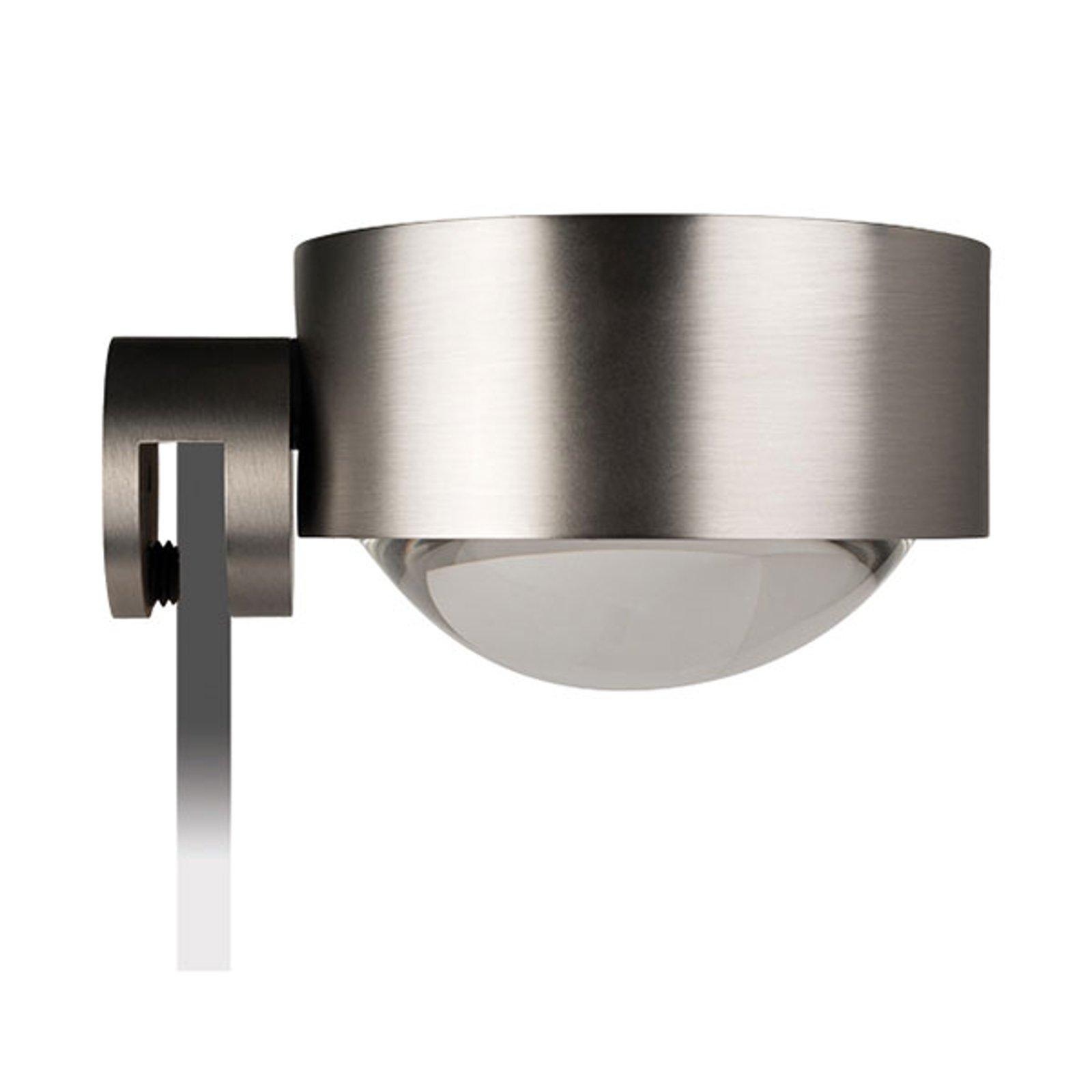 LED-speilklemmelampe Puk Fix, nikkel matt