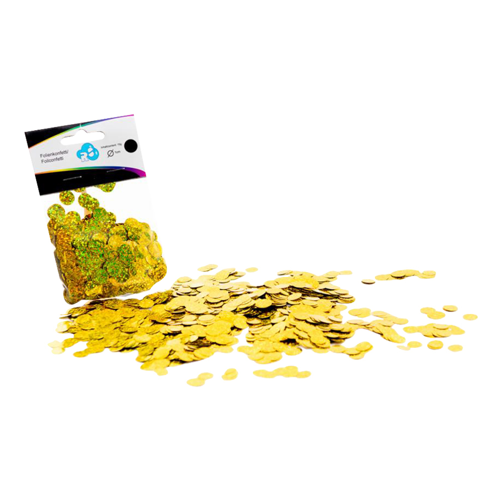 Ballongkonfetti Holografisk Guld - 15 gram