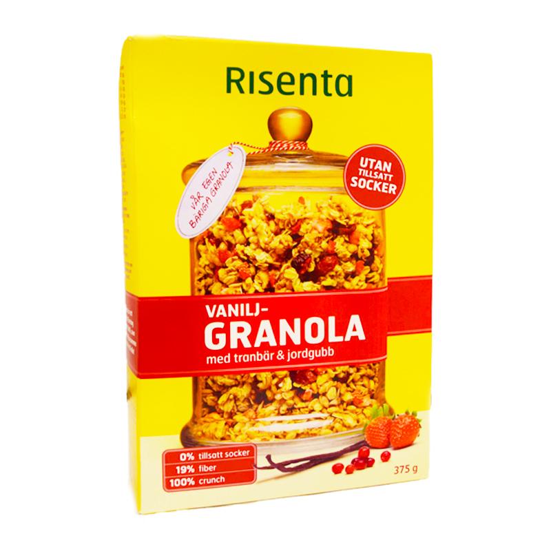 Granola Vanilj Tranbär & Jordgubb - 49% rabatt