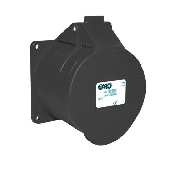 Garo UI 416-7 S Paneelin ulostulo IP44, 5-napainen, 16A Musta, 7 h