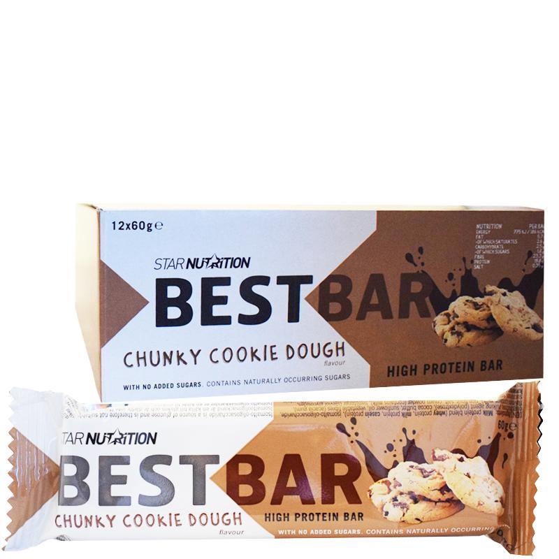 "Hel Låda Proteinbars ""Chunky Cookie Dough"" 12 x 60g - 39% rabatt"