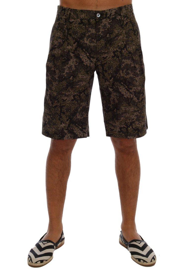 Dolce & Gabbana Men's Cotton Military Pattern Shorts Multicolor PAN60738 - IT44 | XS