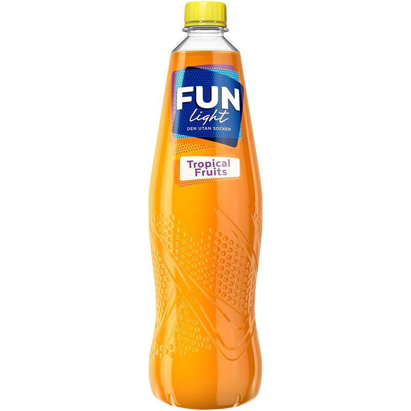 "Fun Light ""Tropical Fruits"" 1l - 75% alennus"