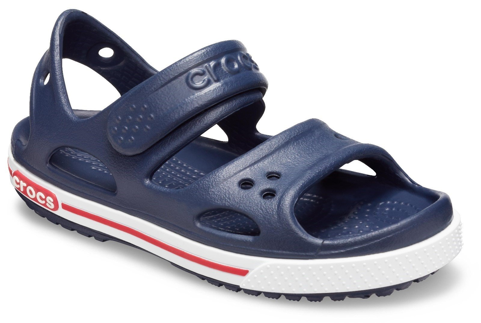 Crocs Kid's Crocband ll Touch Fastening Sandal Various Colours 28788 - Navy/White 4