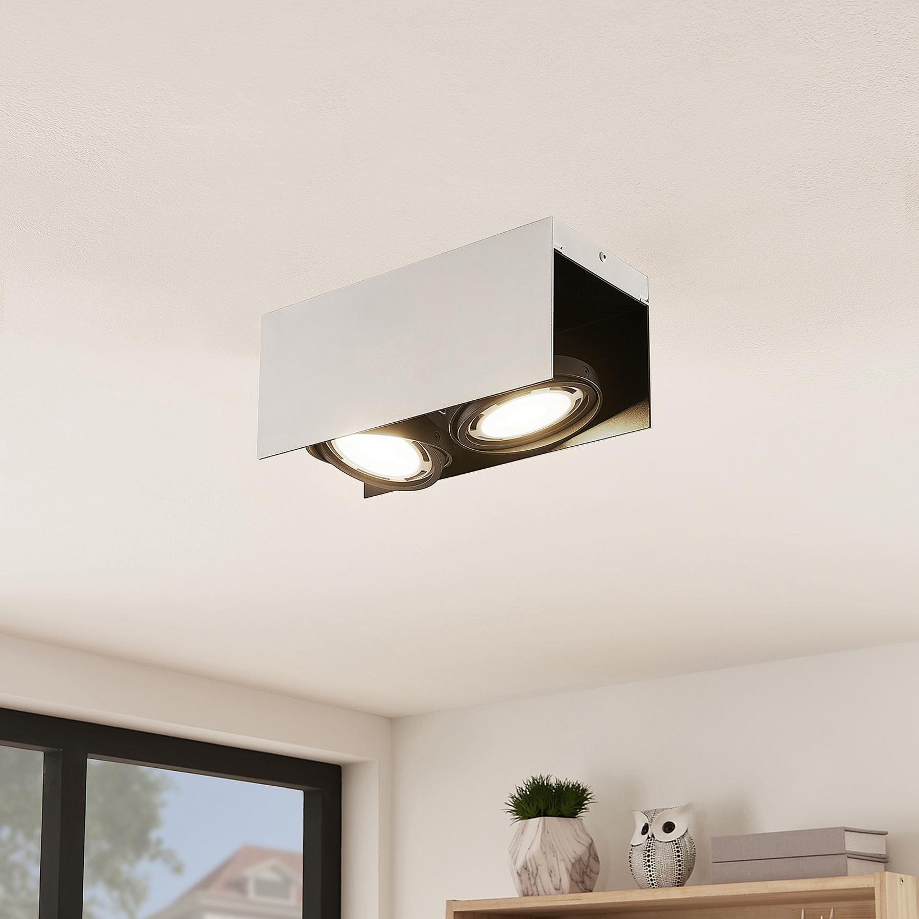 Arcchio Ocula -LED-kattokohdevalo GU10, 2-lamp.