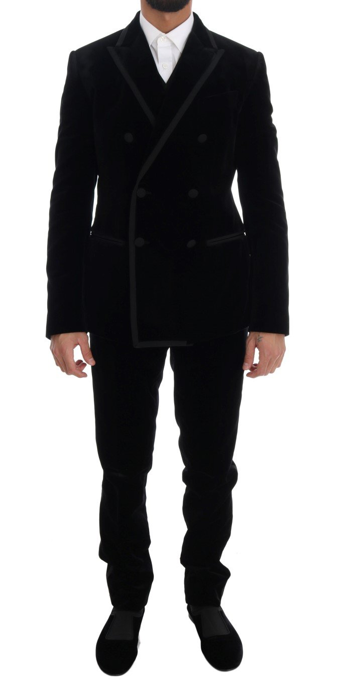 Dolce & Gabbana Men's Double Breasted Slim Suit Beige KOS1125 - IT48   M