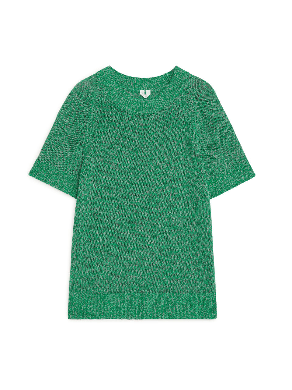 Knitted Short-Sleeved Top - Green