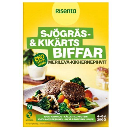Eko Sjögräs- och Kikärtsbiffar 200g - 30% rabatt