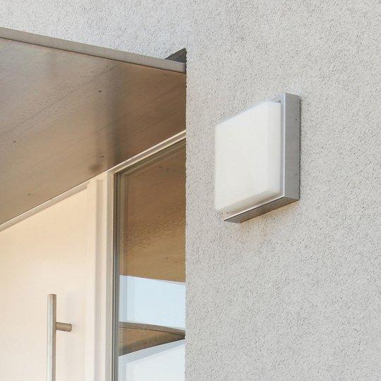 Utendørs LED-vegglampe 046, sensor, rustfritt stål