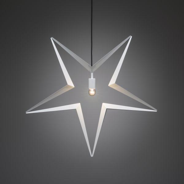 Konstsmide 2578-217 Tähti E14, valkoinen, roikkuva, 80 cm