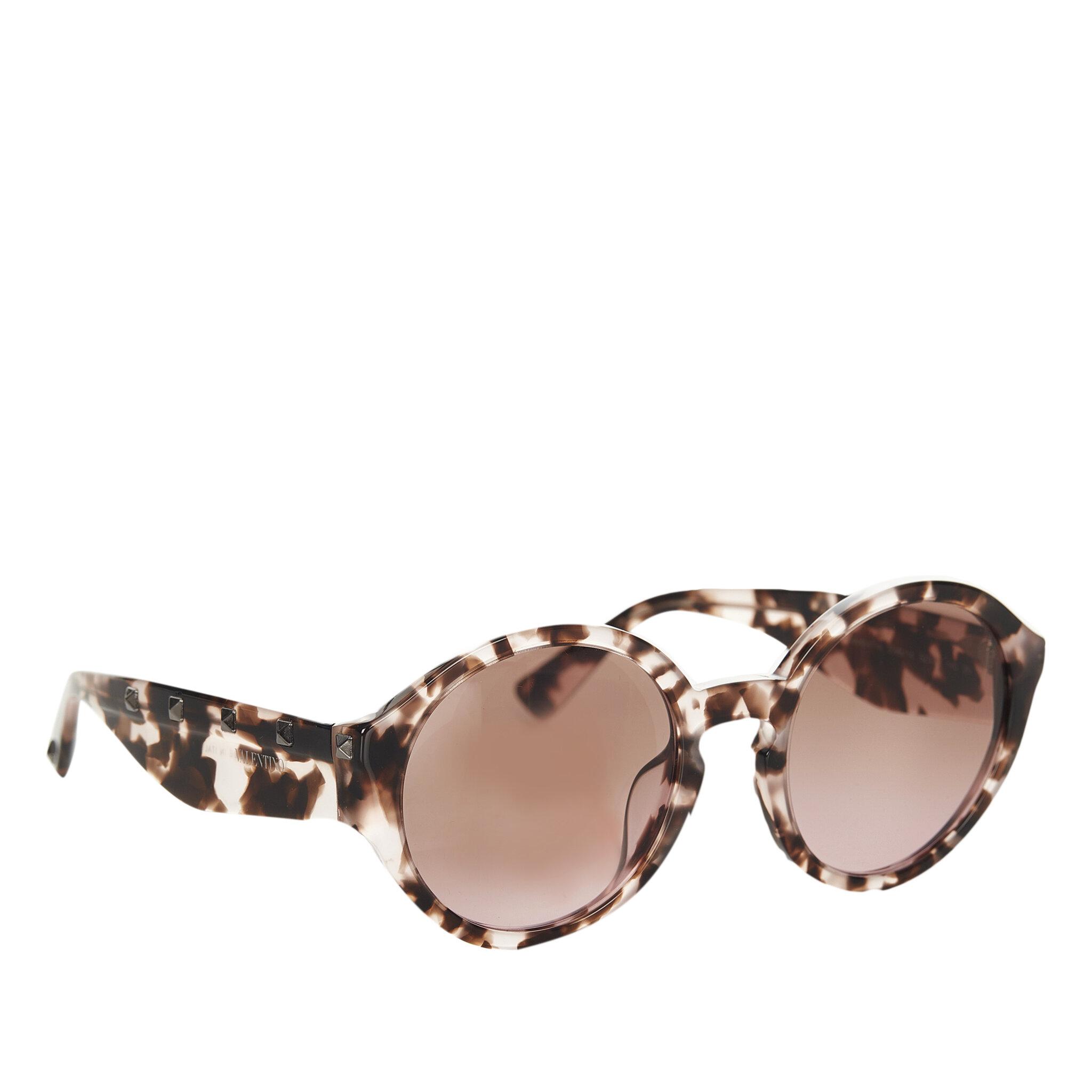 Valentino Round Tinted Sunglasses, ONESIZE