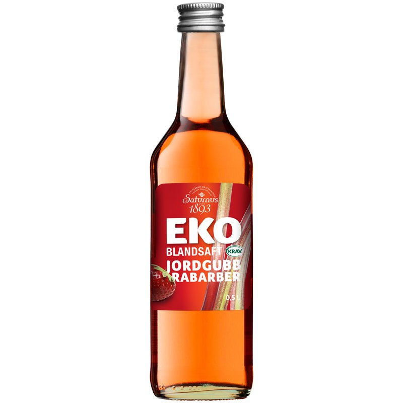 Eko Blandsaft Jordgubb & Rabarber 50cl - 56% rabatt