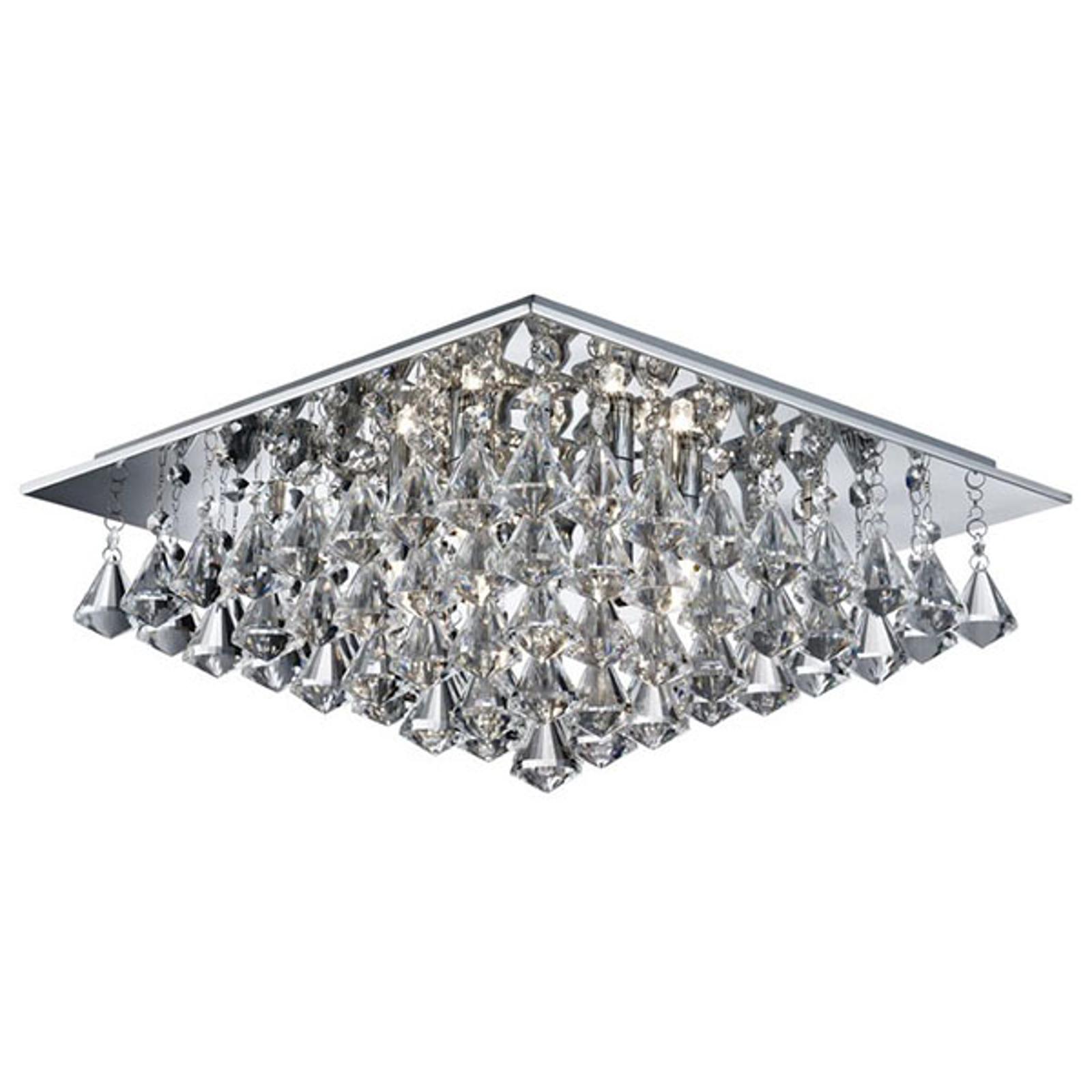 Kattovalo Hanna jossa kristalliprismat 44x44cm