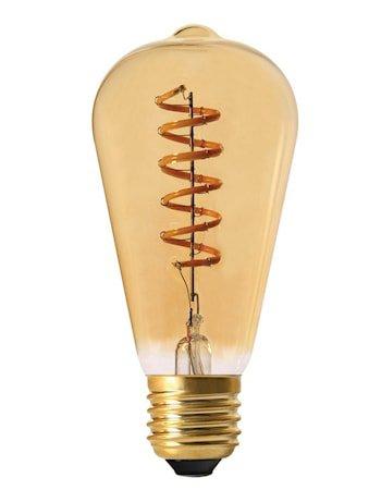 Elect Spiral LED Fil Edison Gold 64mm