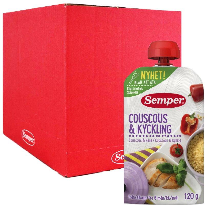 Laatikollinen Lastenruokaa: Couscous & Kana 12 x 120g - 92% alennus